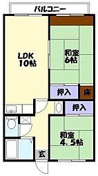 おいばし黒田[2階]の間取り
