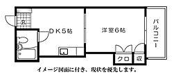 広島県広島市西区三滝町の賃貸マンションの間取り