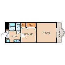 奈良県香芝市五位堂4丁目の賃貸マンションの間取り