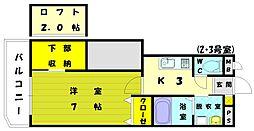 リバーサイドM3[3階]の間取り