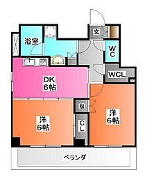東京都北区豊島2の賃貸マンションの間取り