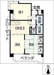 ロイヤルパレスホウゲツ[4階]の間取り