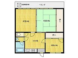 砺波アパート[2階]の間取り