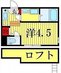 東京都葛飾区柴又6丁目の賃貸アパートの間取り