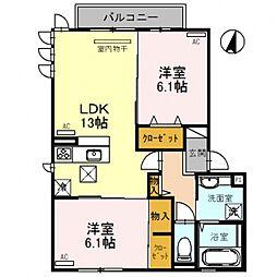 D-room平野市町2丁目[3O2号室号室]の間取り