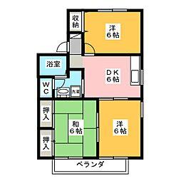パインツリー A[2階]の間取り