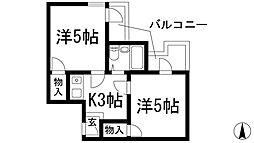 ドムス鉢塚[1階]の間取り