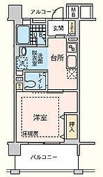 こもれび武蔵浦和[505号室]の間取り