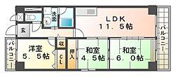 パインヒルズ21[7階]の間取り
