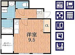 ヒルズビュー寺田町BLD[9階]の間取り