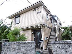 東京都調布市深大寺北町6丁目の賃貸アパートの外観