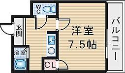 ギャレ蛍池[230号室]の間取り