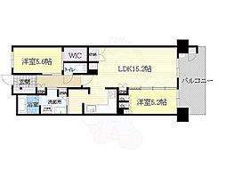 北大阪急行電鉄 桃山台駅 徒歩10分の賃貸マンション 1階2LDKの間取り