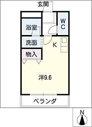 愛知県大府市共和町3丁目の賃貸マンションの間取り