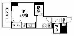 グラン・ドミール小田原弓ノ町 2階ワンルームの間取り