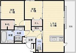 グレイスコート藤[2階]の間取り
