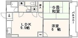 ニューいわきビル[9階]の間取り