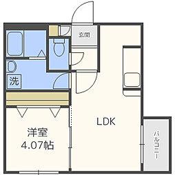 仮)Kafuu Residence N35[3階]の間取り