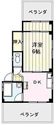 第三マルガン荘[4階]の間取り
