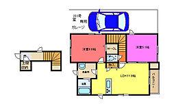 仮称東大阪市シャーメゾン太平寺2丁目[201号室]の間取り