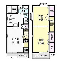 アーバンステージ II[2階]の間取り