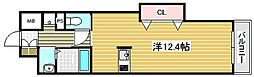 パストラーレ江坂[4階]の間取り