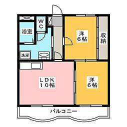 ファミール向宿[1階]の間取り