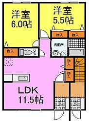 メゾン・クレール堂本[1階]の間取り