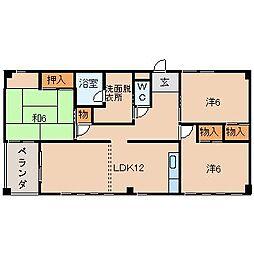 サーパス福島[5階]の間取り