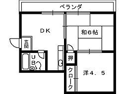 ルネ岩崎[4階]の間取り