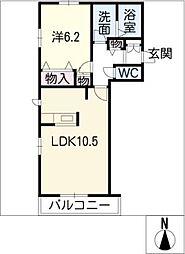 インサイド林島[2階]の間取り