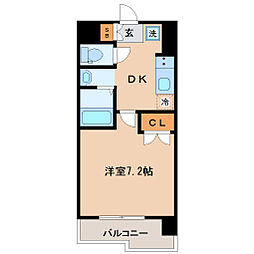 レジディア仙台原ノ町[8階]の間取り