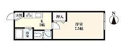 栗林荘[1階]の間取り