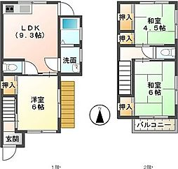 [一戸建] 静岡県三島市加茂 の賃貸【静岡県 / 三島市】の間取り