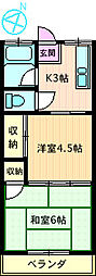 井澤荘[202号室]の間取り
