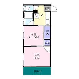 松本荘[105号室]の間取り