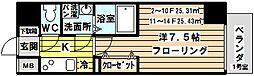 レジュールアッシュ北大阪グランドステージ[701号室]の間取り