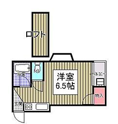 新日本パレス九産大前[103号室]の間取り