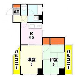 ハピネスマンション[305号室]の間取り