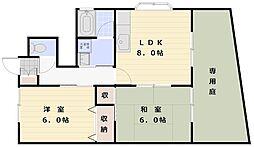 ソレジオSAWA[1階]の間取り