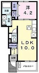 コッティ クワハラI[1階]の間取り