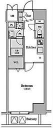 JR山手線 新橋駅 徒歩7分の賃貸マンション 8階1Kの間取り