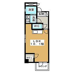 REXII茶屋が坂[2階]の間取り