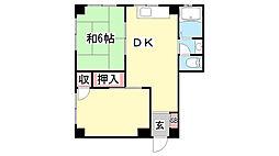 ネオライフ鈴蘭台[506号室]の間取り