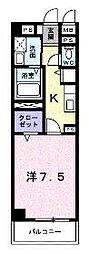 香川県綾歌郡宇多津町浜三番丁の賃貸マンションの間取り