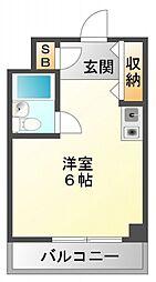 クレイドル江坂[2階]の間取り