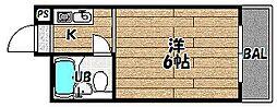 大阪府大阪市東淀川区大桐2の賃貸マンションの間取り