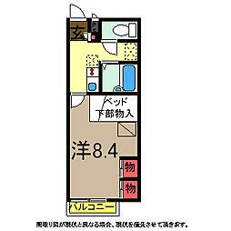 MONE[205号室]の間取り