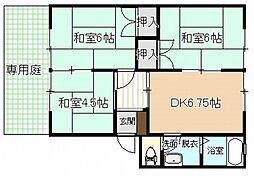 共立松ヶ丘アパート[1階]の間取り