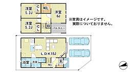 [一戸建] 兵庫県姫路市南車崎2丁目 の賃貸【/】の間取り